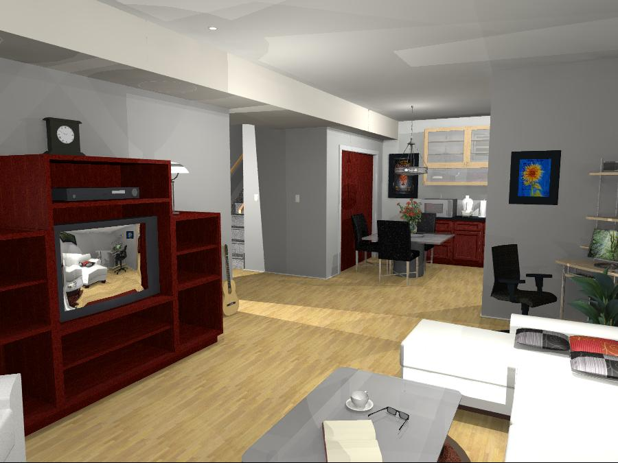 Interior Design Kelowna - Creative Touch - Design Render of living room