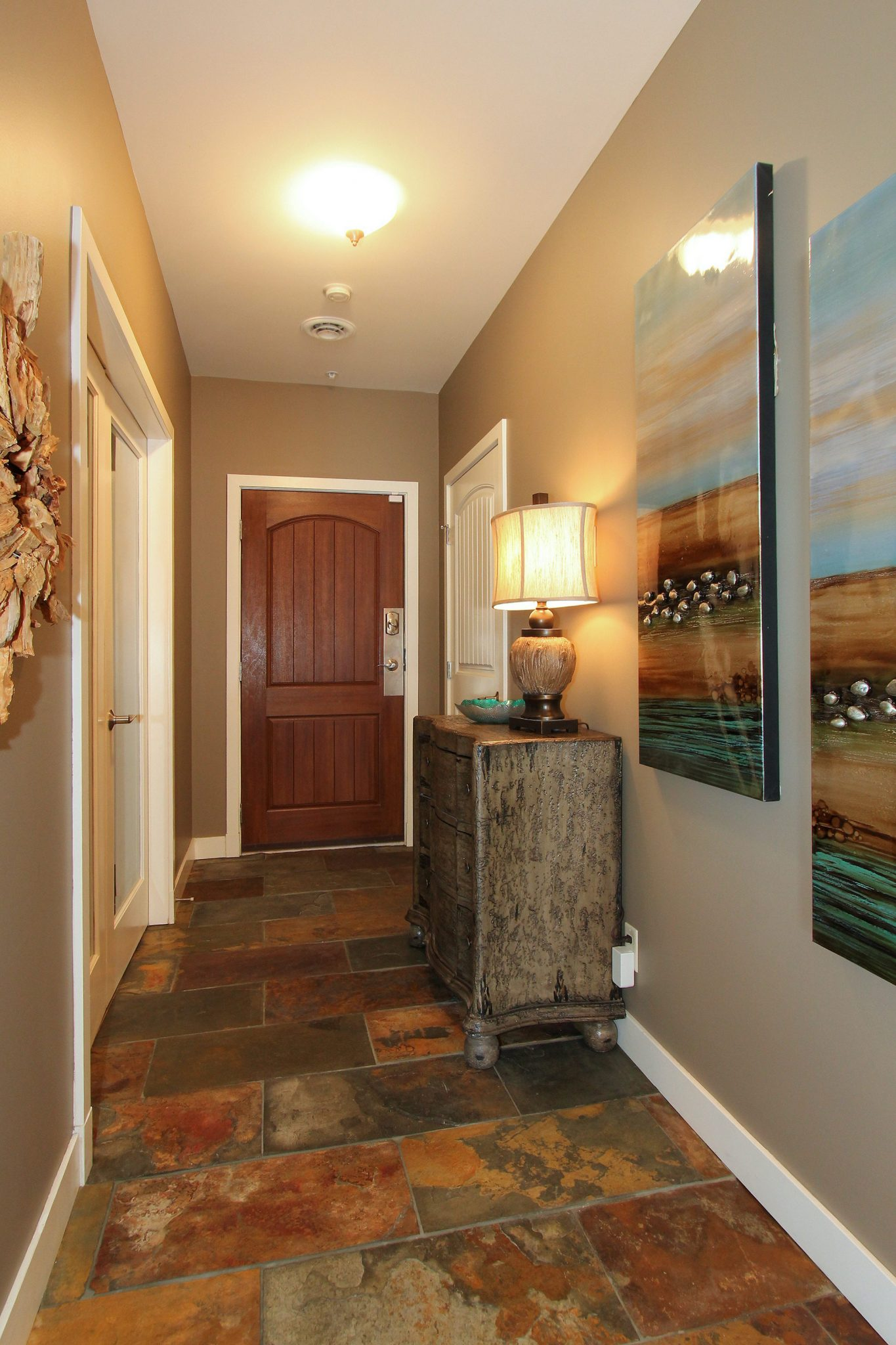 Entryway after! | Creative Touch Kelowna Interior Design
