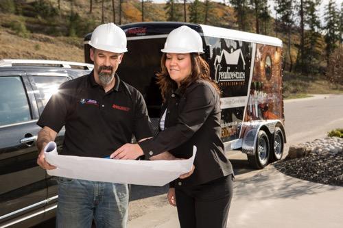 Interior Design Kelowna - Paulette with contractor team member
