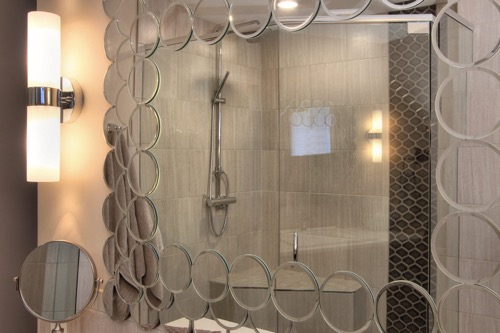 Interior Design Kelowna - Creative Touch - Ensuite bathroom custom designed vanity mirror