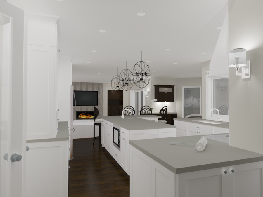 Interior Design Kelowna - Creative Touch Interiors - 3D Render of custom lighting design