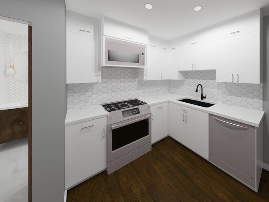 Interior Design Kelowna - Creative Touch Interiors - 3D Render of custom kitchen design