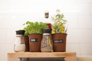 Finishing details/staging: fresh herbs | Creative Touch Kelowna Interior Design