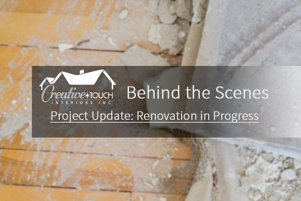 Interior Design Kelowna - Creative Touch Interiors - Project Update: renovation in progress