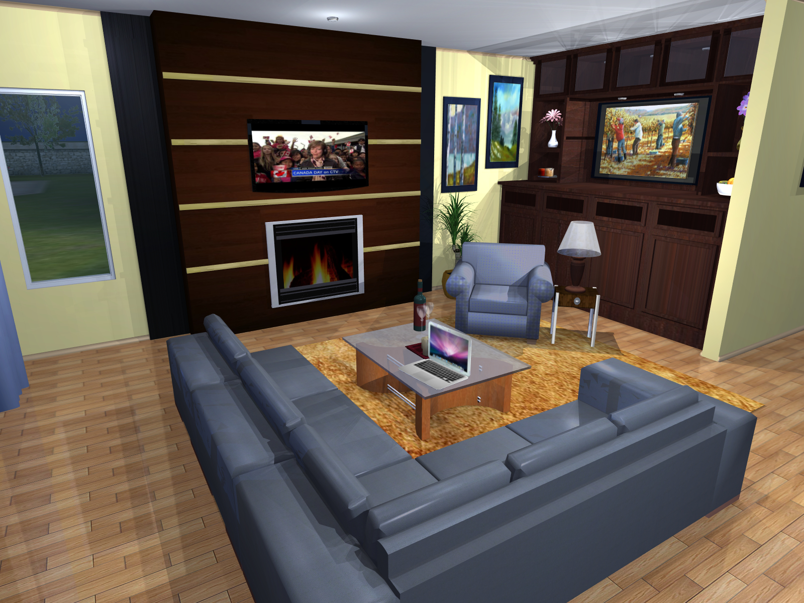 3D render used in planning | Creative Touch Kelowna Interior Design
