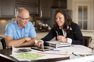 Interior Design Kelowna - Paulette works with client on design plan