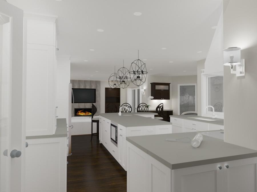 Interior Design Kelowna - Creative Touch Interiors - 3D Render of custom lighting design