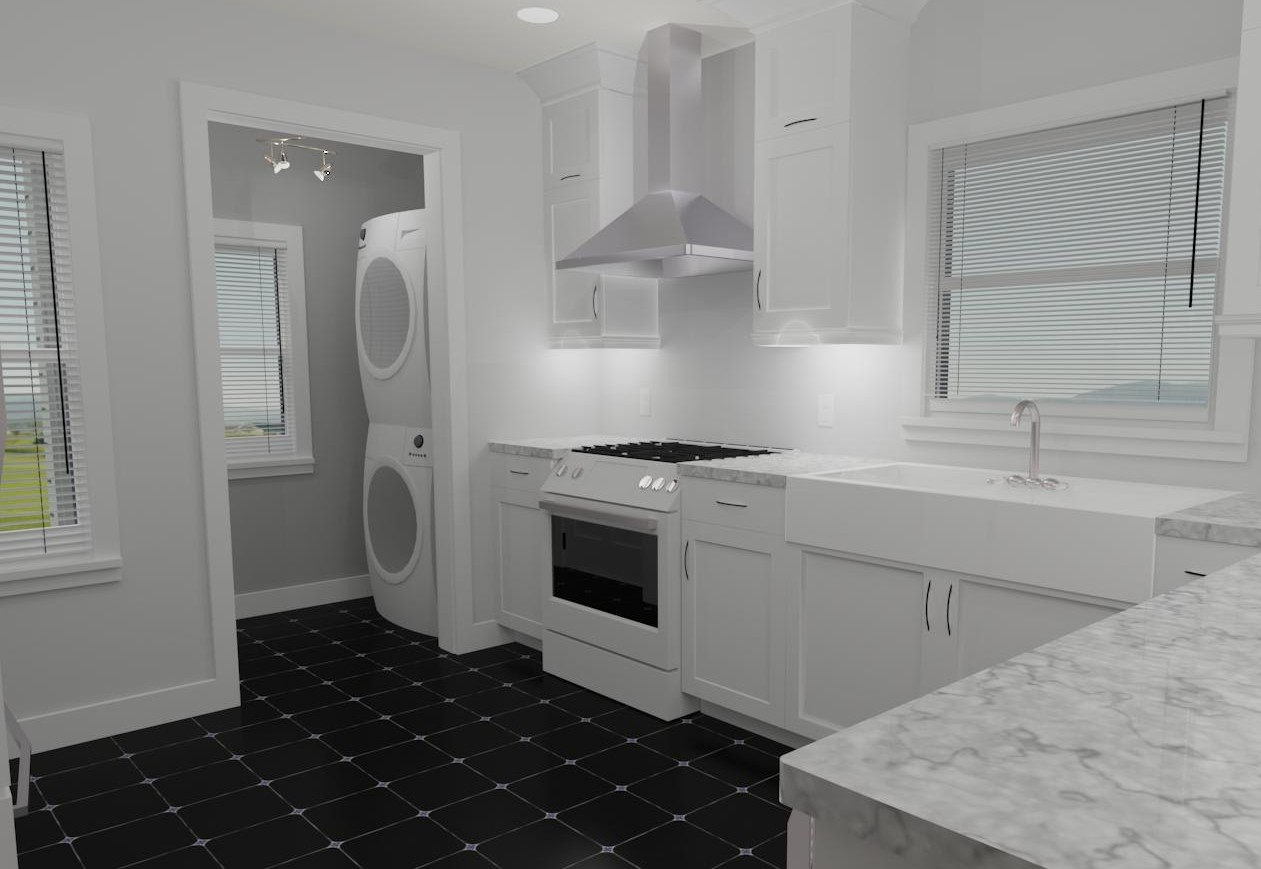 Interior Design Kelowna Creative Touch Heritage Kitchen Remodel Render 2