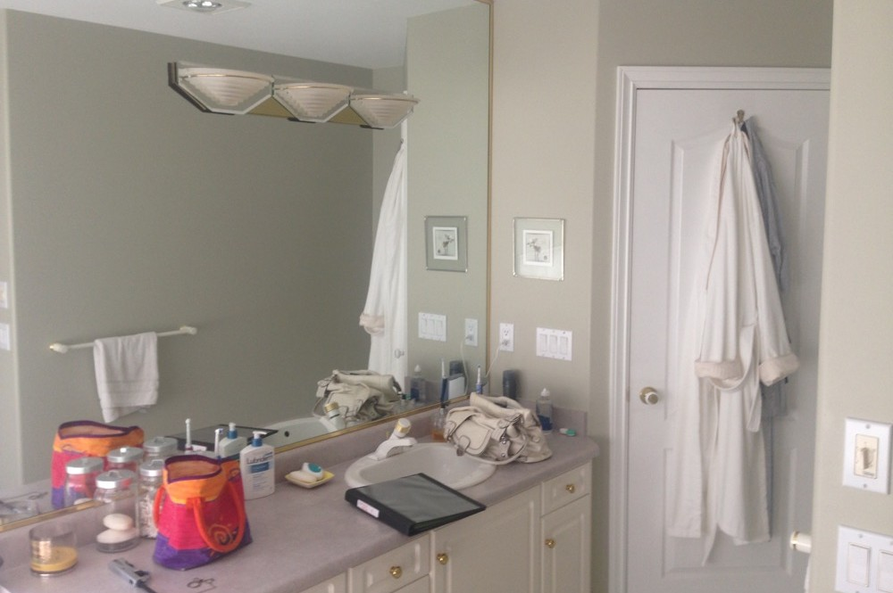 Before Cascia Drive Bathroom | Creative Touch Kelowna Interior Design