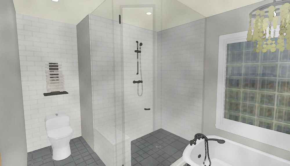 Cascia Drive Bathroom Render | Creative Touch Kelowna Interior Design