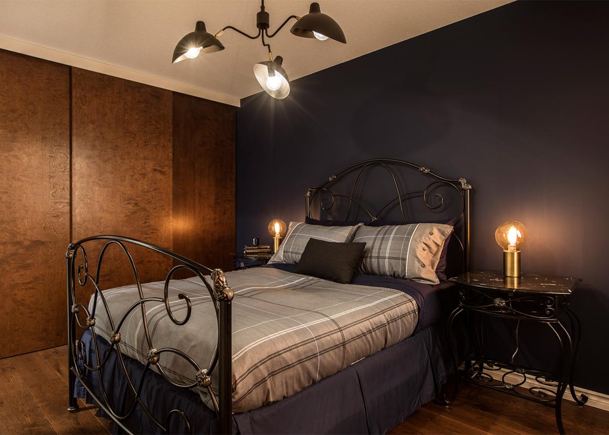 Mid-century condo - bedroom after | Creative Touch Kelowna Interior Design
