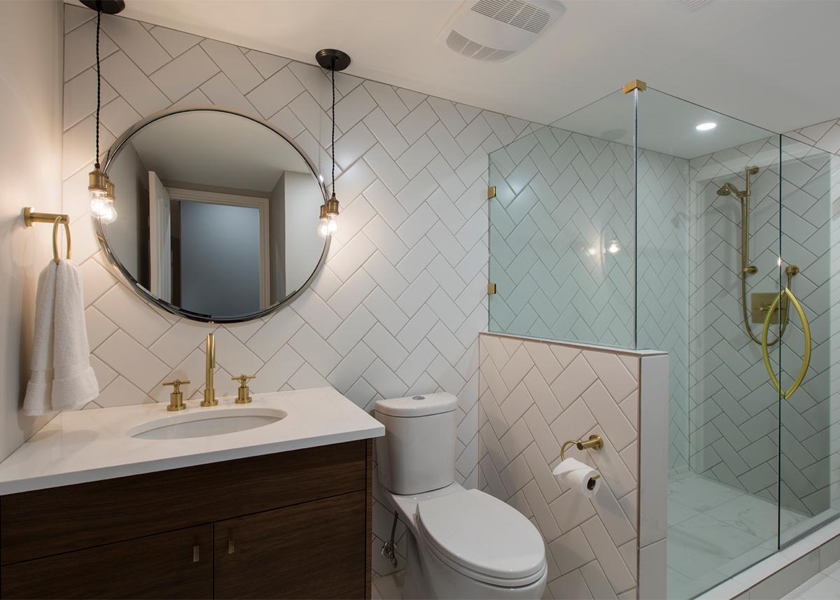 Mid-century condo - master bathroom after | Creative Touch Kelowna Interior Design