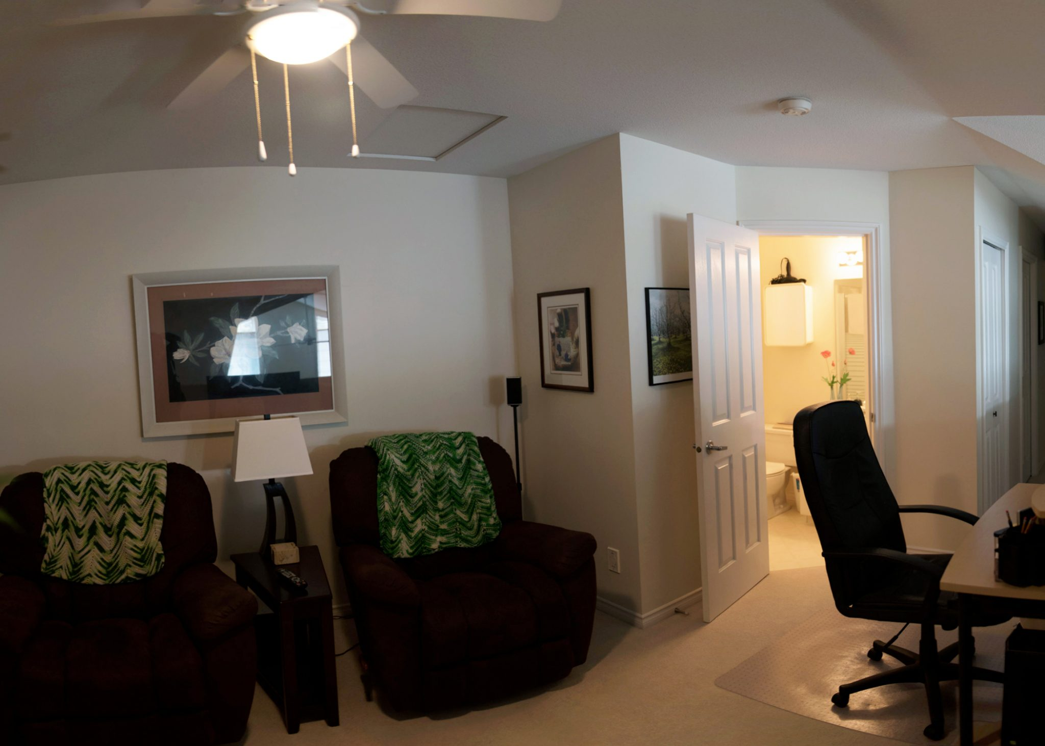 Mid-century condo - upstairs before | Creative Touch Kelowna Interior Design